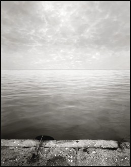 Photograph of the ocean and sky